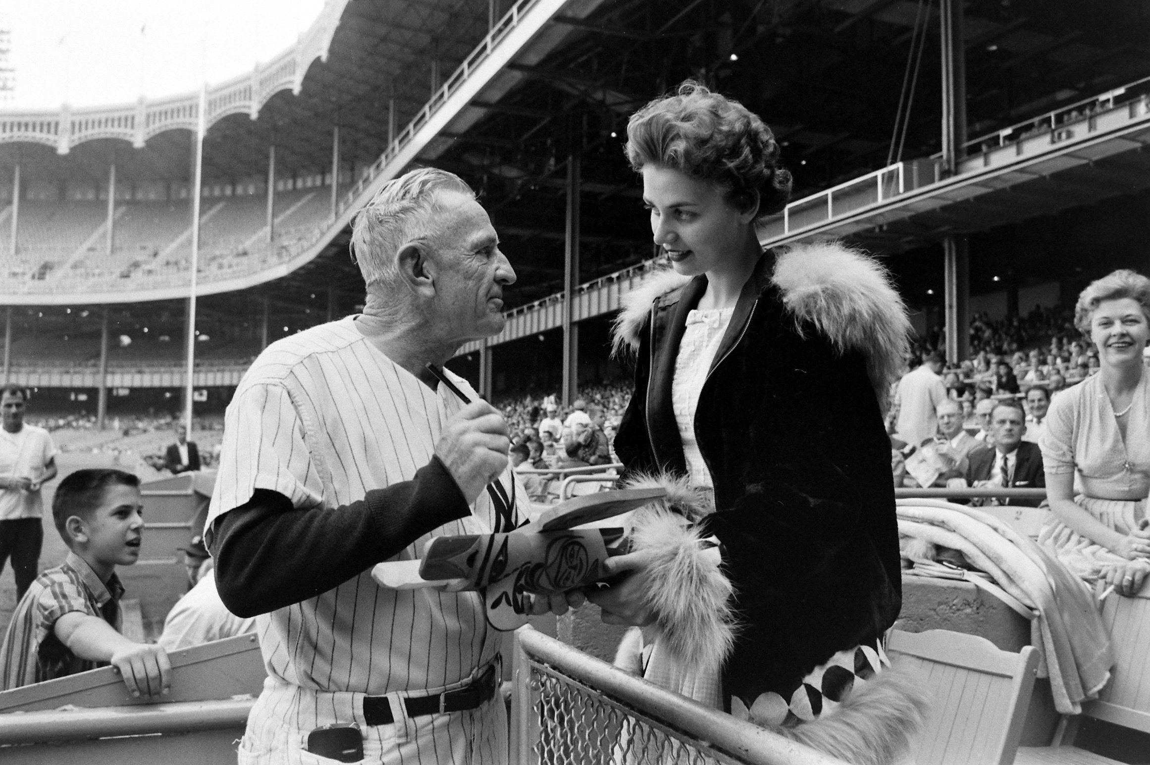 Miss Alaska and Casey Stengel