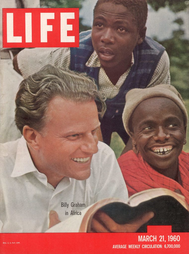 LIFE magazine cover published March 21, 1960. Featuring Billy Graham in Africa. (Photo by James Burke/The LIFE Picture Collection © Meredith Corporation)