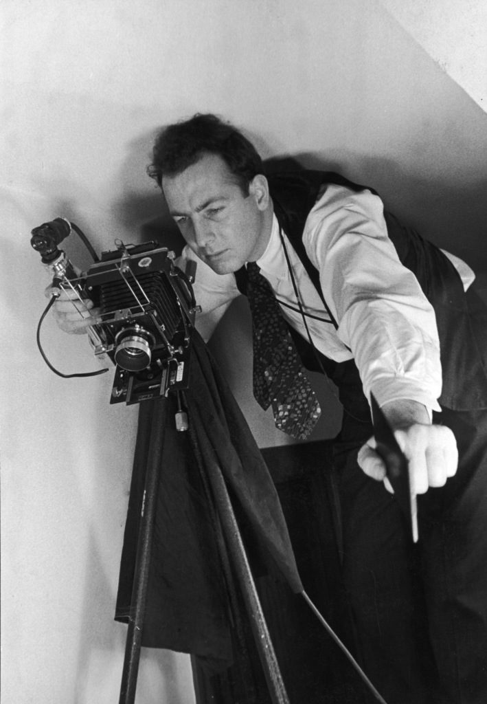 William Vandivert with his camera. (Photo by Grey Carl Mydans/The LIFE Picture Collection © Meredith Corporation)