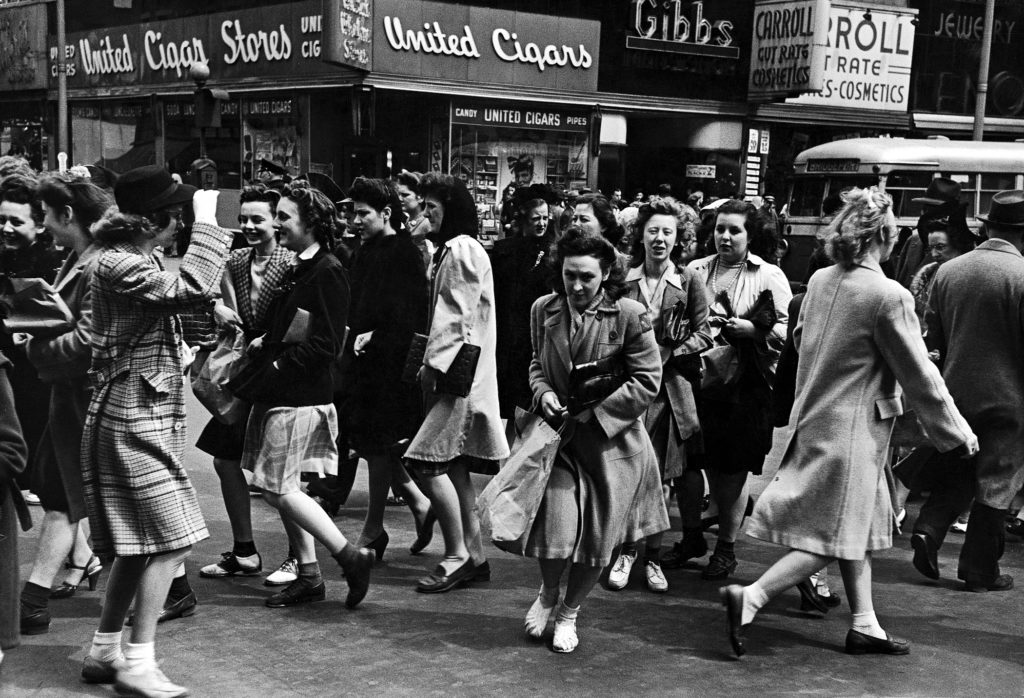 Street scene during business hours. (Photo by Peter Stackpole/The LIFE Picture Collection © Meredith Corporation)