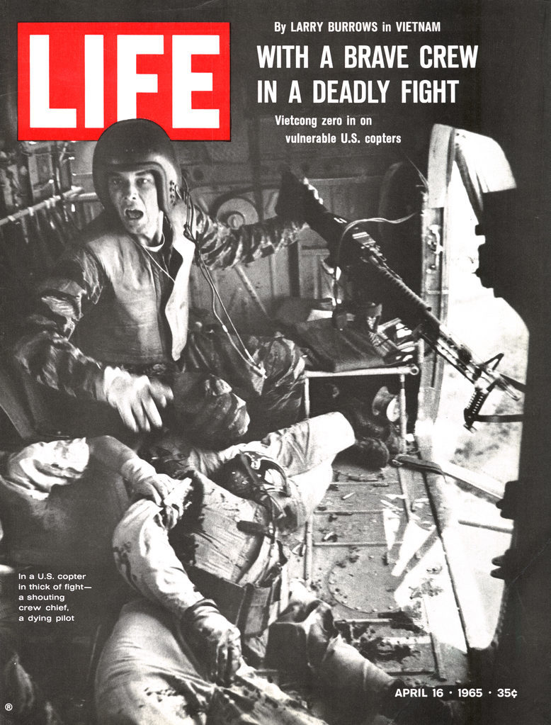 LIFE magazine cover published April 16, 1965. Featuring a flight crew injured during the Vietnam war. (Photo by Larry Burrows/The LIFE Picture Collection © Meredith Corporation)