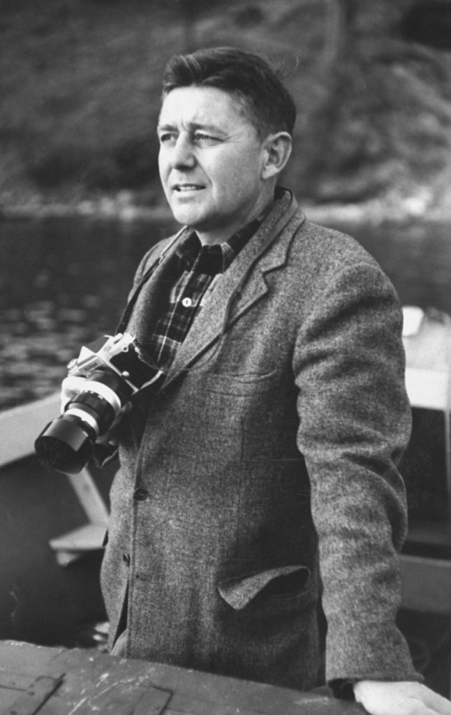 George Silk with his camera. (Photo by George Silk/The LIFE Picture Collection © Meredith Corporation)