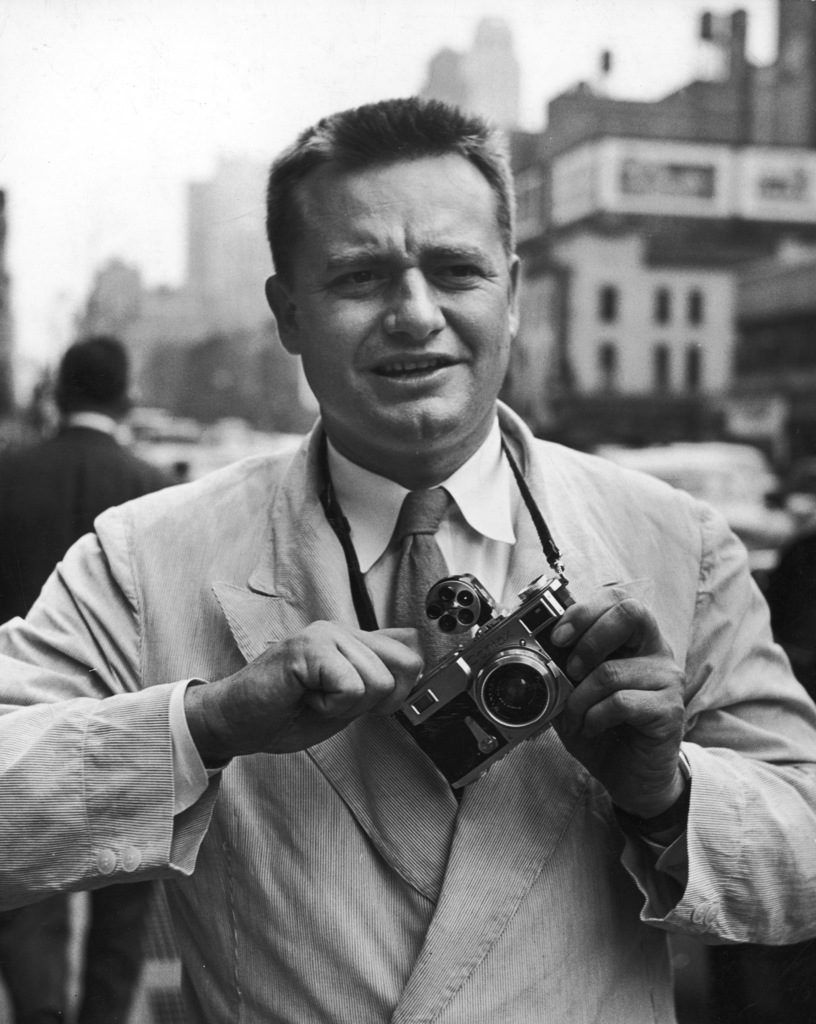 Portrait of William C. Shrout with his camera. (Photo by William C. Shrout/The LIFE Images Collection)