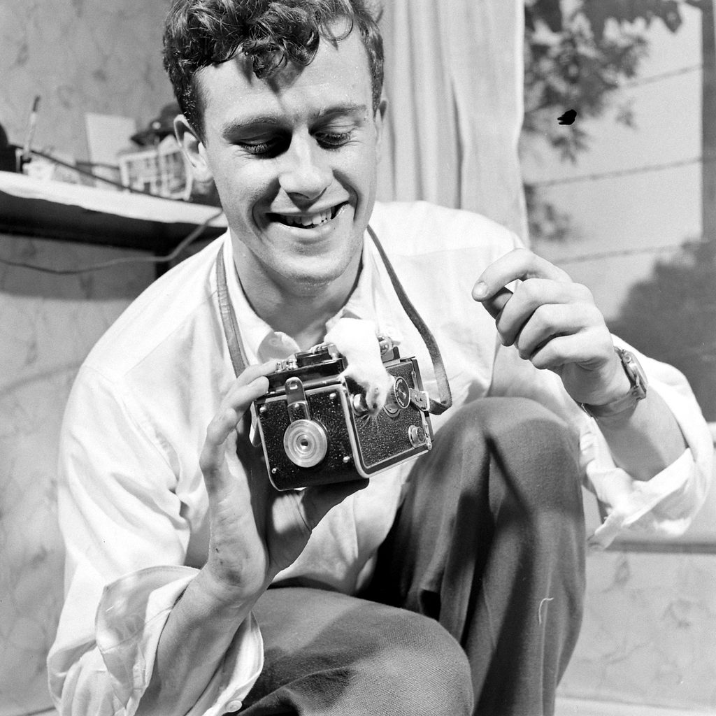 Portrait of Michael Rougier with his camera. (Photo by Michael Rougier/The LIFE Picture Collection © Meredith Corporation)
