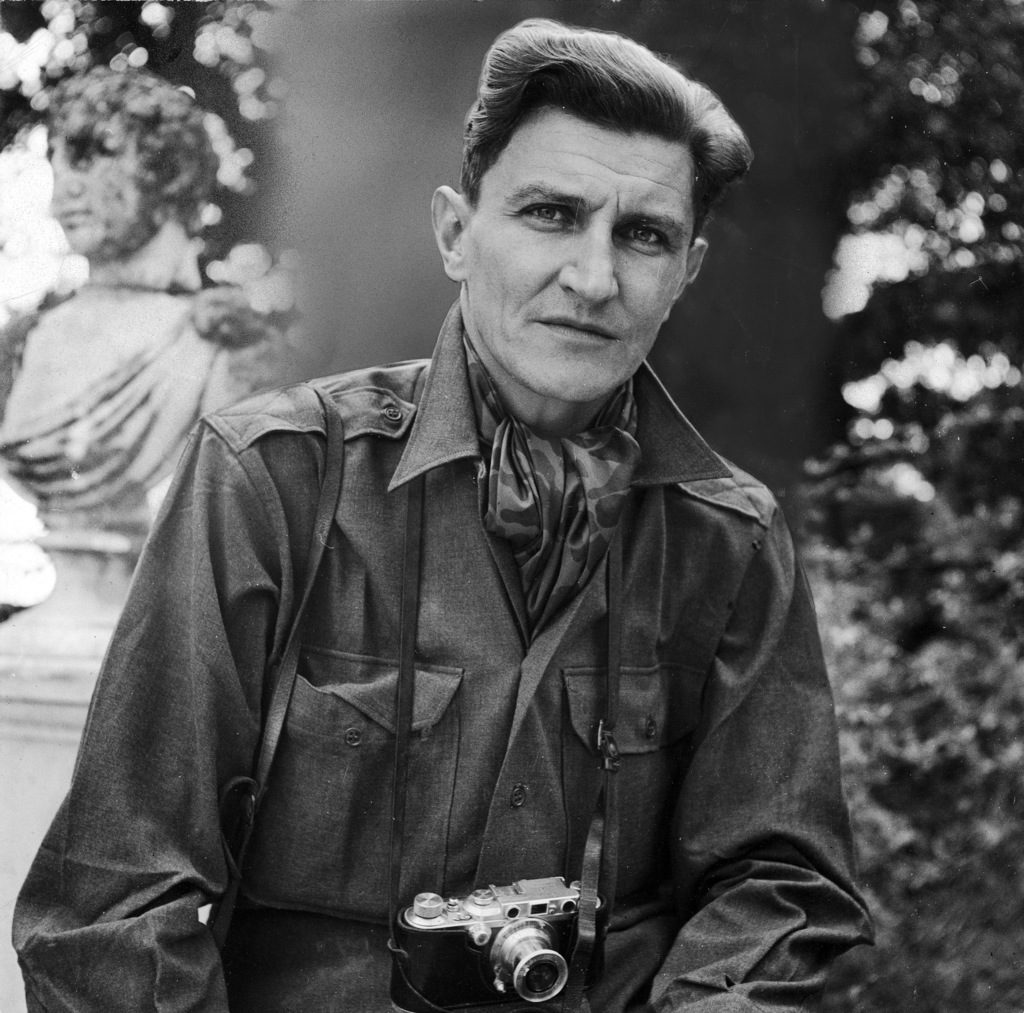 George Rodger with his camera (Photo by George Rodger/The LIFE Images Collection)