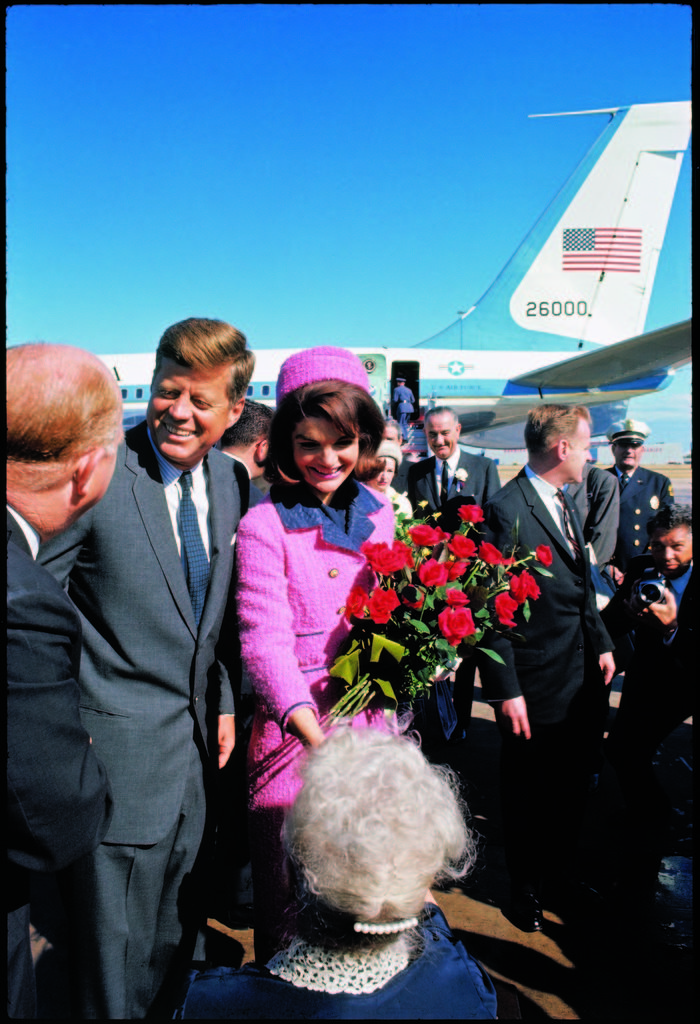 President John F. Kennedy with his wife, Jackie, arriving at Love Field, on a campaign tour with Vice President Lyndon, on the day of his assassination. (Photo by Arthur Rickerby/The LIFE Picture Collection © Meredith Corporation)