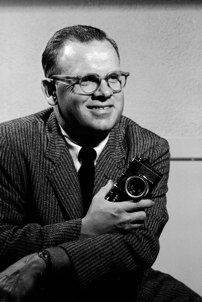 Arthur Rickerby with his camera. (Photo by Arthur Rickerby/The LIFE Images Collection)