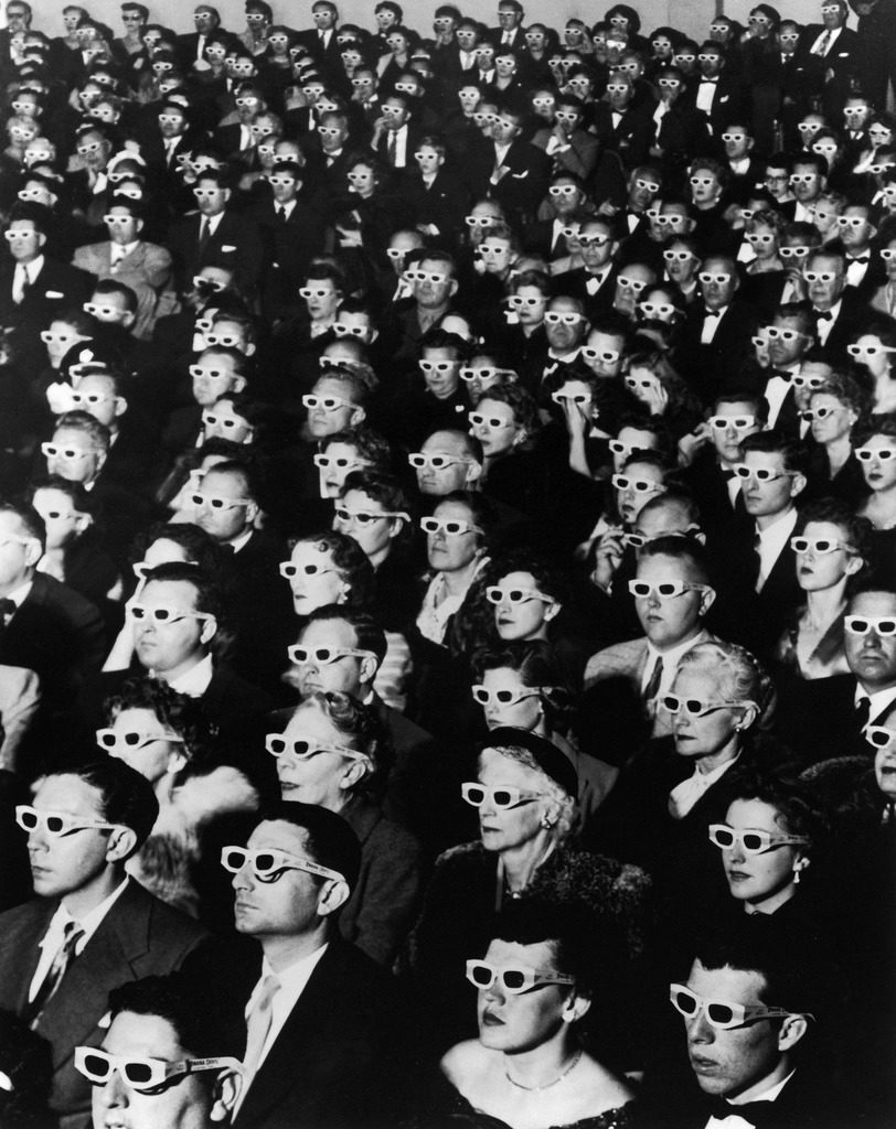 3-D movie viewers. (Photo by J.R. Eyerman/The LIFE Picture Collection © Meredith Corporation)