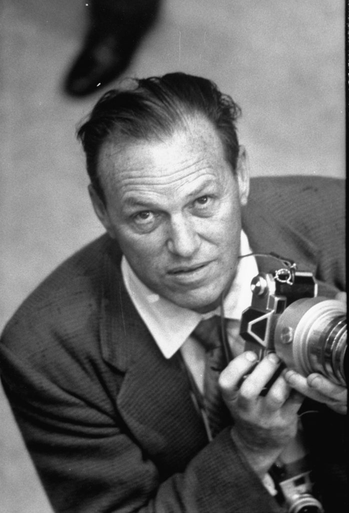 J.R. Eyerman with his camera. (Photo by Alfred Eisenstaedt/The LIFE Picture Collection © Meredith Corporation)
