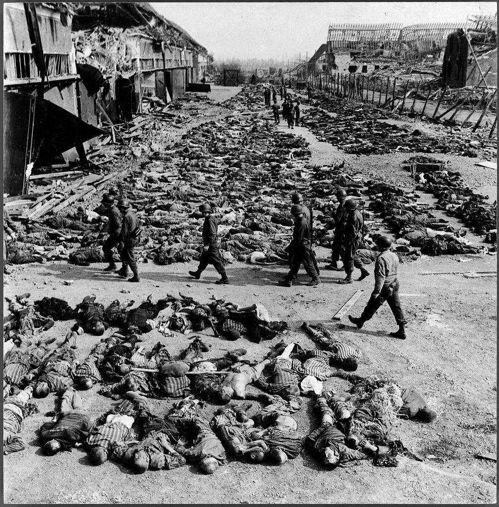 The bodies of 3,000 of the Nazi's slave laborers in preparation for burial. (Photo by John Florea/The LIFE Picture Collection © Meredith Corporation)