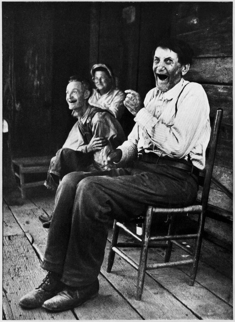 Former Confederate soldier John Salling sitting on a porch with some friends. (Photo by Allan Grant/The LIFE Picture Collection © Meredith Corporation).