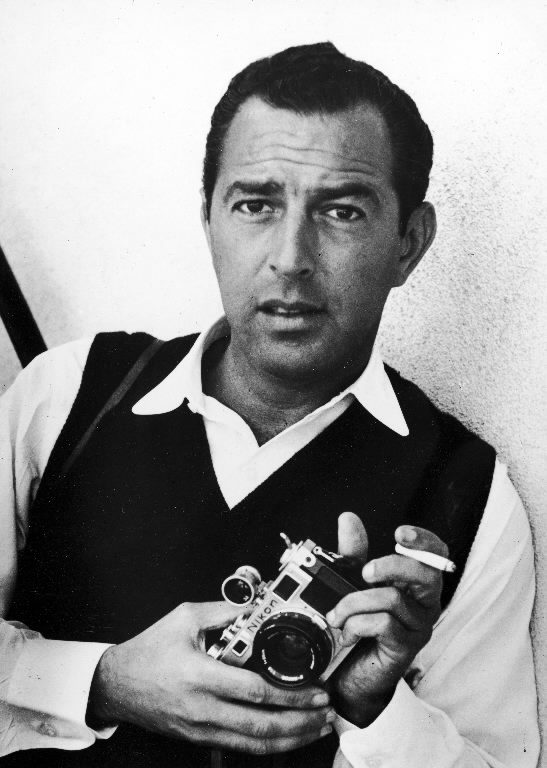 Portrait of Allan Grant with his camera. (Photo by Allan Grant/The LIFE Picture Collection © Meredith Corporation).