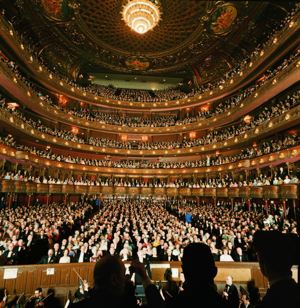 Audience at gala on the last night in the old Metropolitan Opera House before the company moved to new home at Lincoln Center. (Photo by Henry Groskinsky/The LIFE Picture Collection © Meredith Corporation)