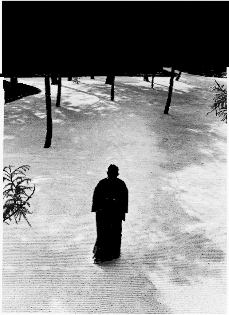 Japan's greatest industrialist/philosopher Konosuke Matsushita, 69, walking in the raked gravel garden of his philosophical institute. (Photo by Bill Ray/The LIFE Picture Collection © Meredith Corporation)