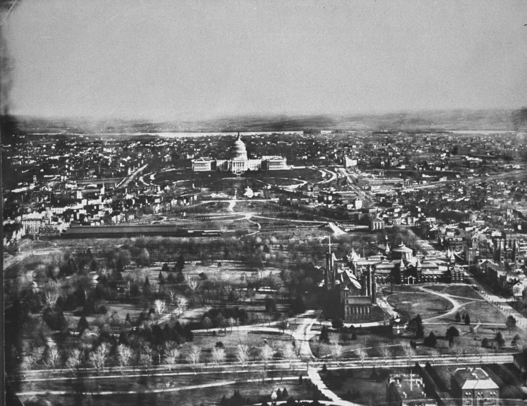 Washington, D.C. skyline in 1901. (Photo by Charles Phillips/The LIFE Picture Collection © Meredith Corporation)