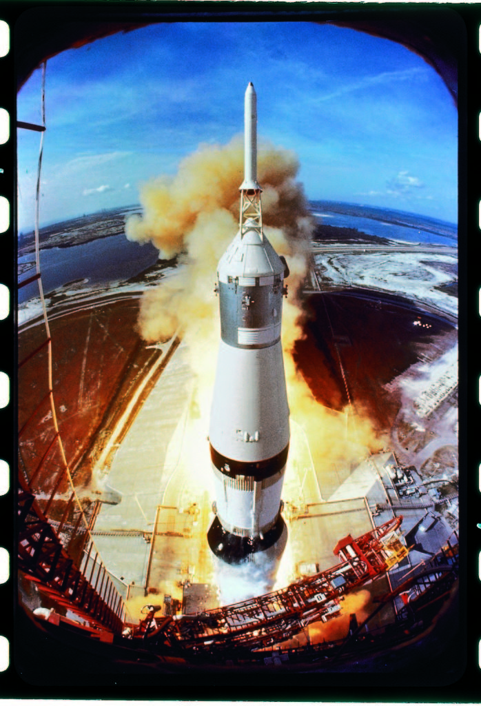 Apollo 11 spaceship lifting off on historic flight to moon. (Photo by Ralph Morse/The LIFE Picture Collection © Meredith Corporation)