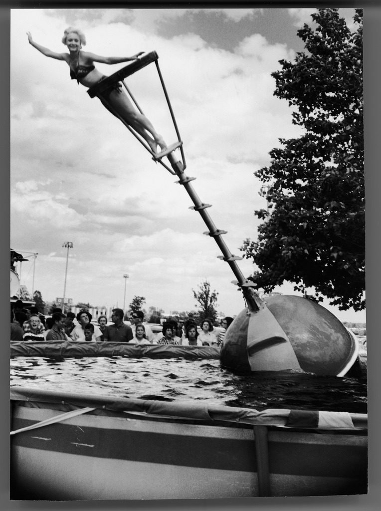 Model demonstrating the Aqua Bobber. (Photo by Francis Miller/The LIFE Picture Collection © Meredith Corporation)