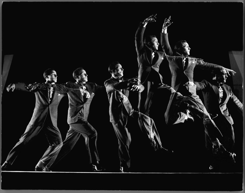 Dancer Gene Kelly showing off his balletic grande jetee in this stroboscopic studio study. (Photo by Gjon Mili/The LIFE Picture Collection © Meredith Corporation)