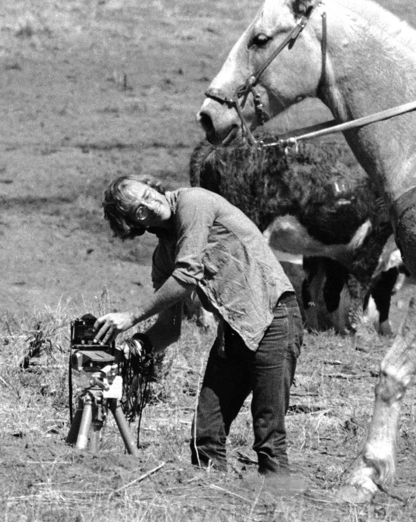 Photographer Vernon Merritt at work on an Apache Indian reservation. (Photo by Vernon Merritt/The LIFE Picture Collection © Meredith Corporation)