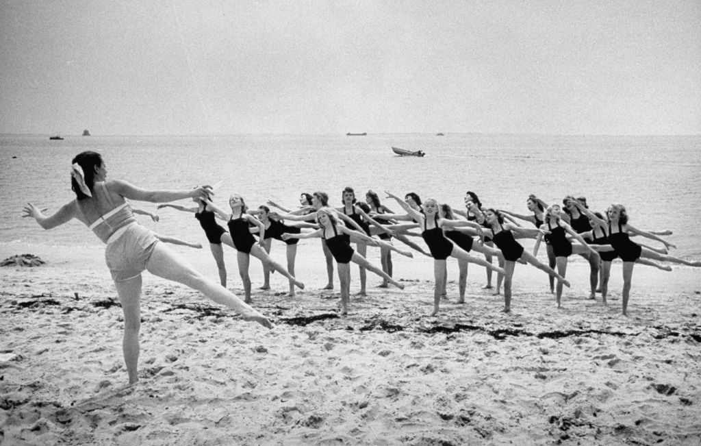 Girls of the Children's School of Modern Dancing, rehearsing on the beach. (Photo by Lisa Larsen/The LIFE Picture Collection © Meredith Corporation)