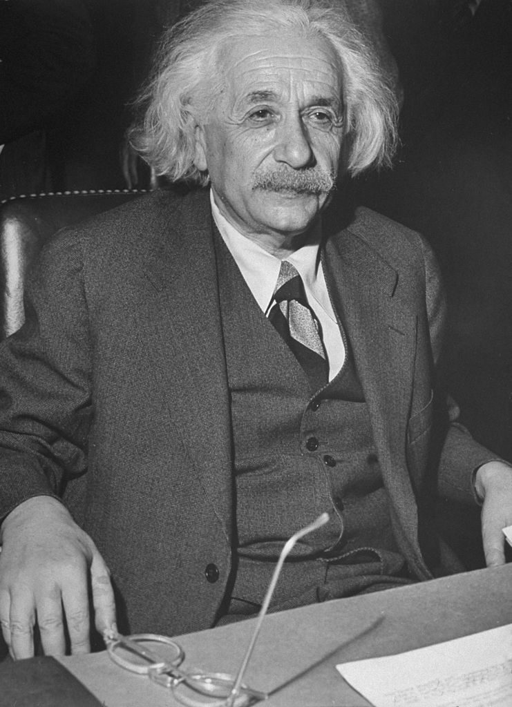 Dr. Albert Einstein testifying on behalf of the un-restricted Jewish immagration to Palestine before the Anglo American Committee of Inquiry on Palestine. (Photo by Walter B. Lane/The LIFE Picture Collection © Meredith Corporation)