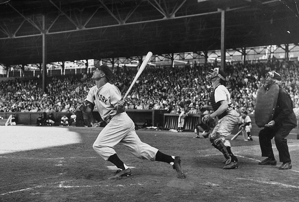 Watching a high ball during baseball game. (Photo by Mark Kauffman/The LIFE Picture Collection © Meredith Corporation)