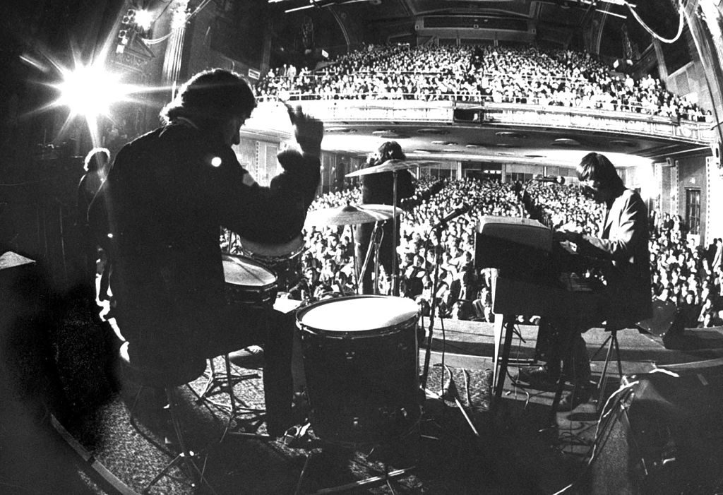 Rock group The Doors performing at the Fillmore East. (Photo by Yale Joel/The LIFE Picture Collection © Meredith Corporation)