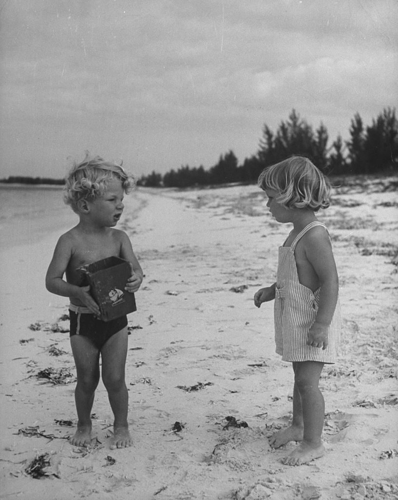Children playing on the beach, 1946. (Photo by Marie Hansen/The LIFE Picture Collection © Meredith Corporation)