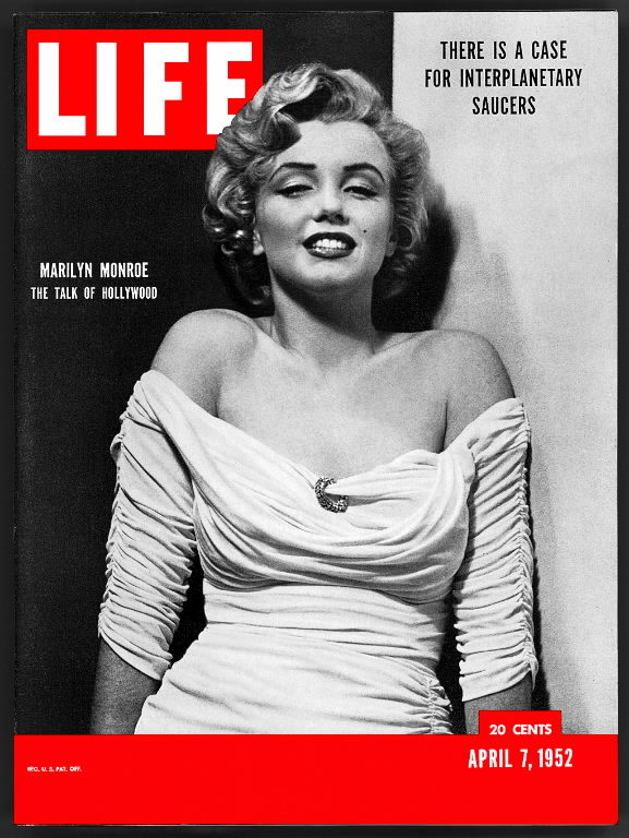 LIFE magazine cover published March 7, 1952, featuring Marilyn Monroe. (Photo by Philippe Halsman/The LIFE Images Collection)