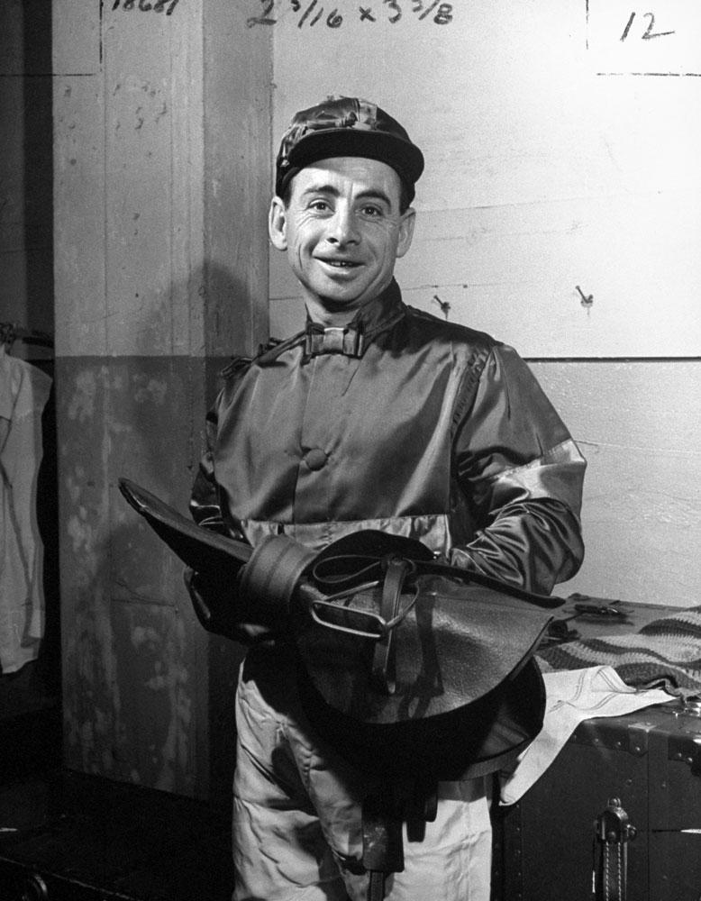 Jockey Johnny Longden in 1945.