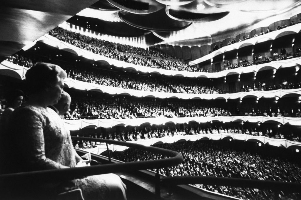 A view from the balcony at the opening of new Metropolitan Opera House at Lincoln Center in January 1966.