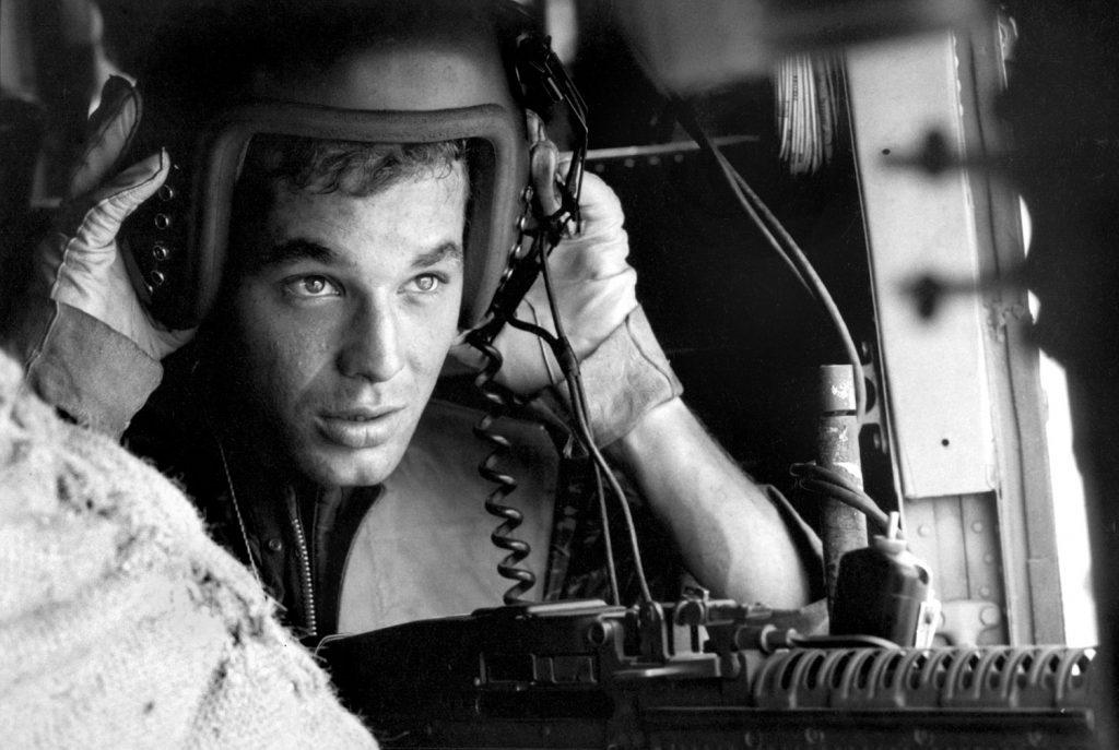Lance Cpl. James C. Farley, helicopter crew chief, Vietnam, 1965.