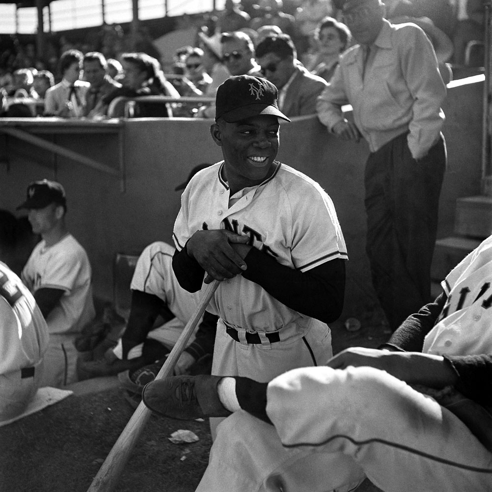 A Loomis Dean photo of 22-year-old Willie Mays at spring training in Arizona in 1954, the year the Giants won the World Series   the sole championship of Mays' long career.