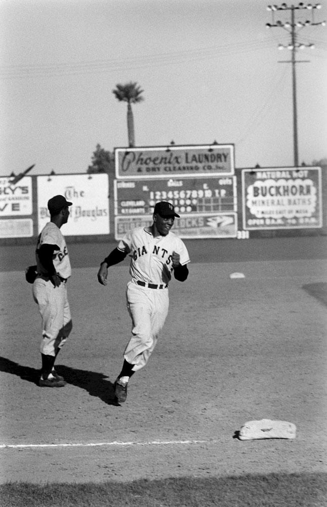 Willie Mays, spring training, 1954