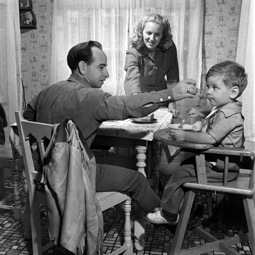 Johnny Longden and family, 1945.