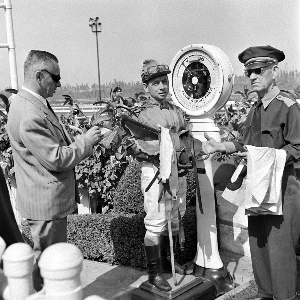 Jockey Johnny Longden, 1952.