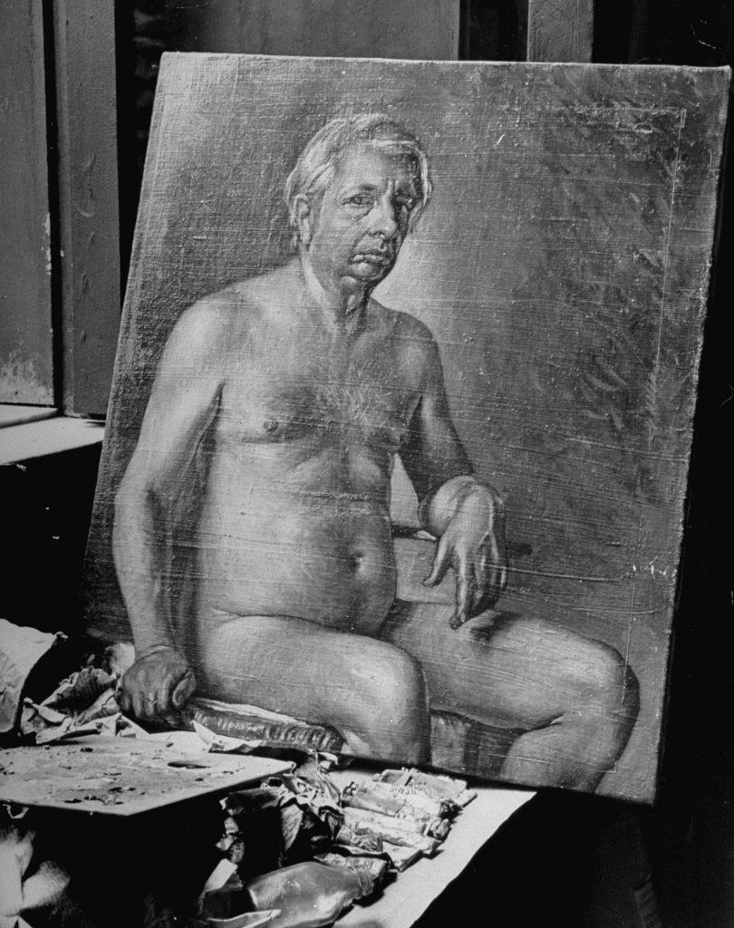 A self-portrait by the Italian painter Giorgio de Chirico (1888 - 1978)