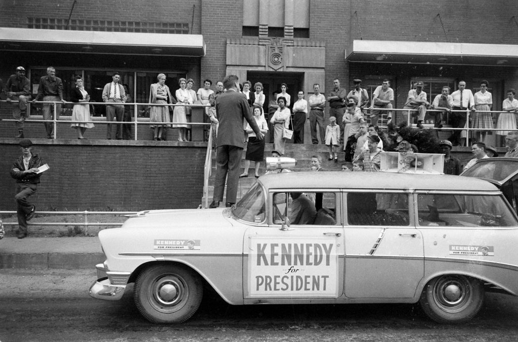 Scene from John F. Kennedy's 1960 presidential campaign.