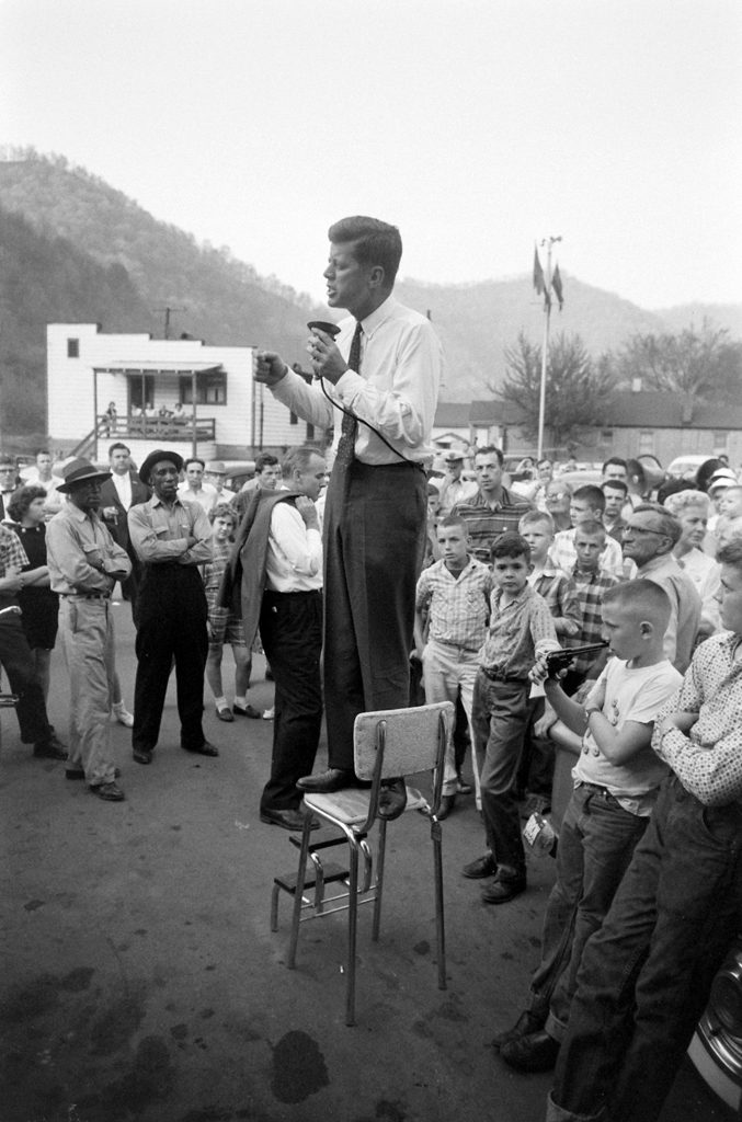 Scene in West Virginia from John F. Kennedy's 1960 presidential campaign.