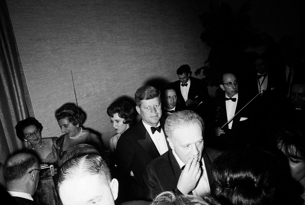 John Kennedy among well-wishers at the inaugural gala.