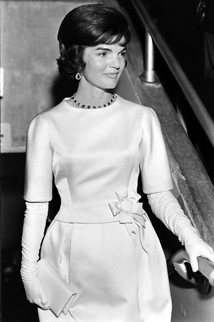 Jackie Kennedy at the D.C. Armory during the Frank Sinatra- and Peter Lawford-produced gala.