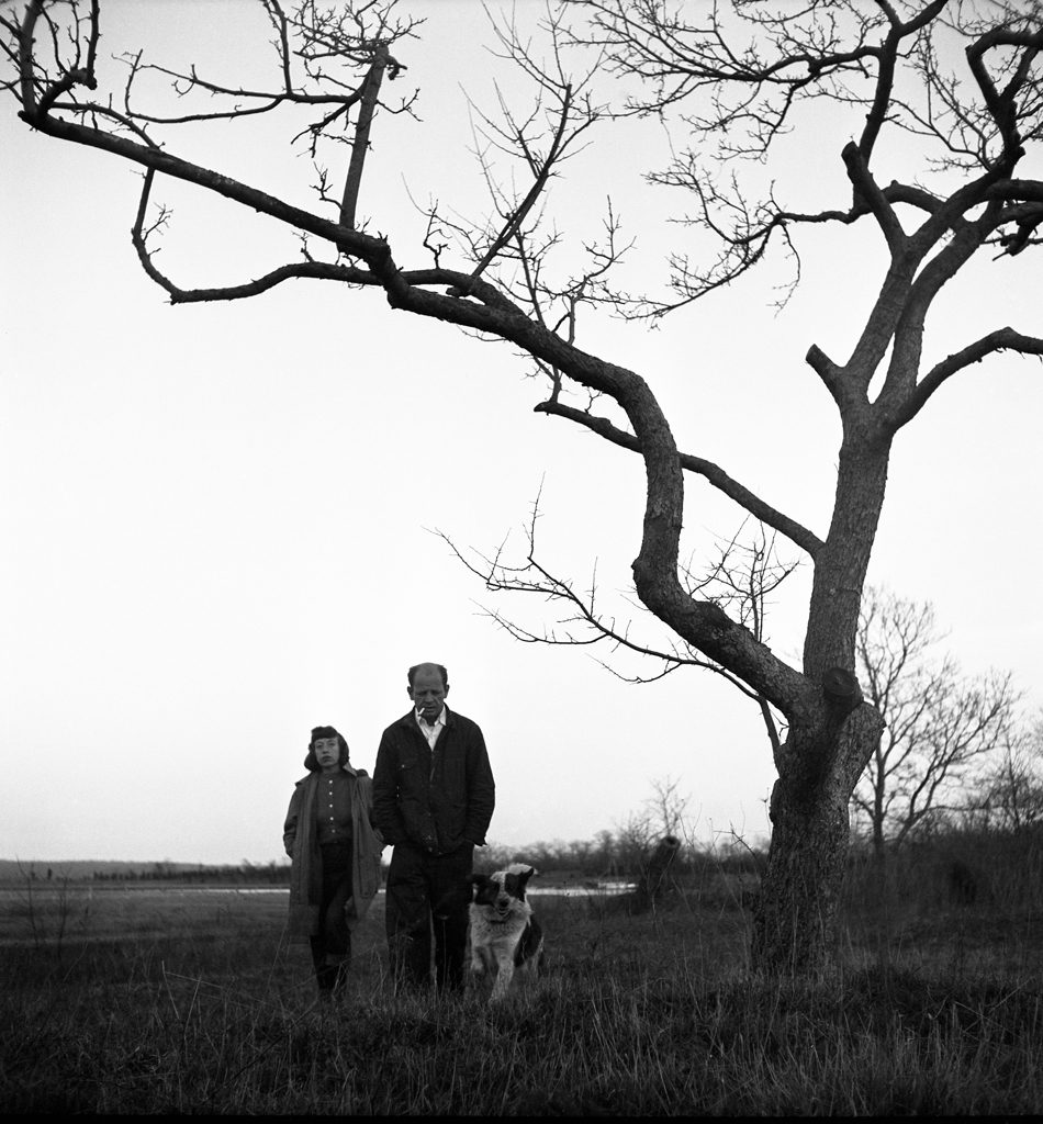 Jackson Pollock and Lee Krasner, Long Island, April 1949.