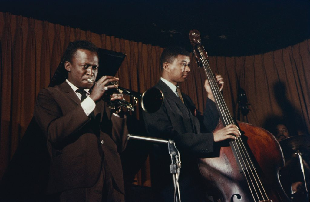 Picture of Miles Davis and Paul Chambers, 1958