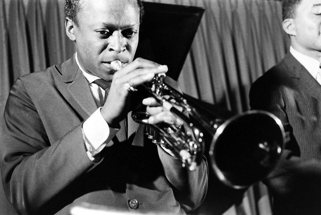 Unpublished picture of Miles Davis in New York, 958