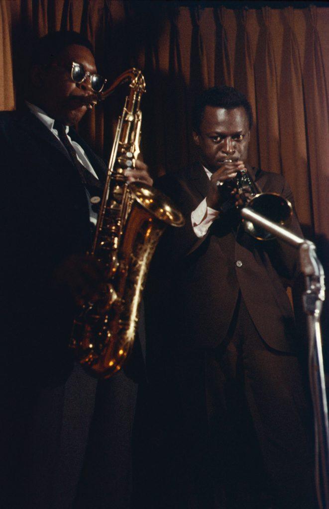 Miles Davis and John Coltrane play in New York City in 1958
