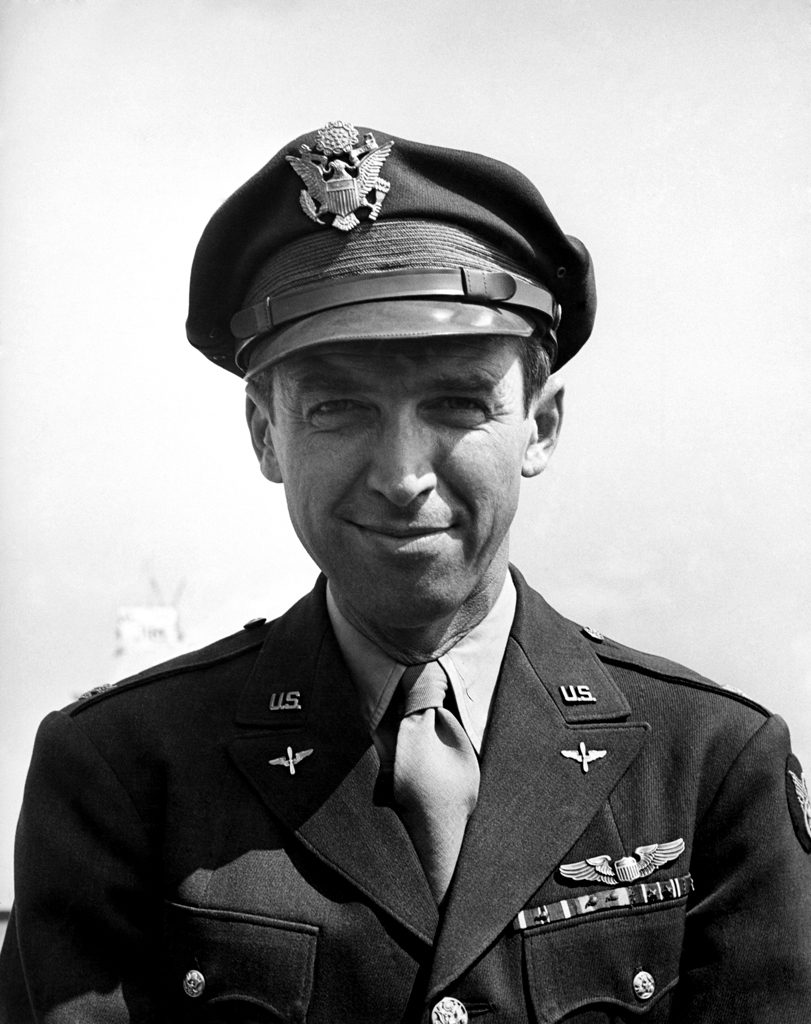 Col. James Stewart: movie star, war hero, Indiana, Pa., 1945.