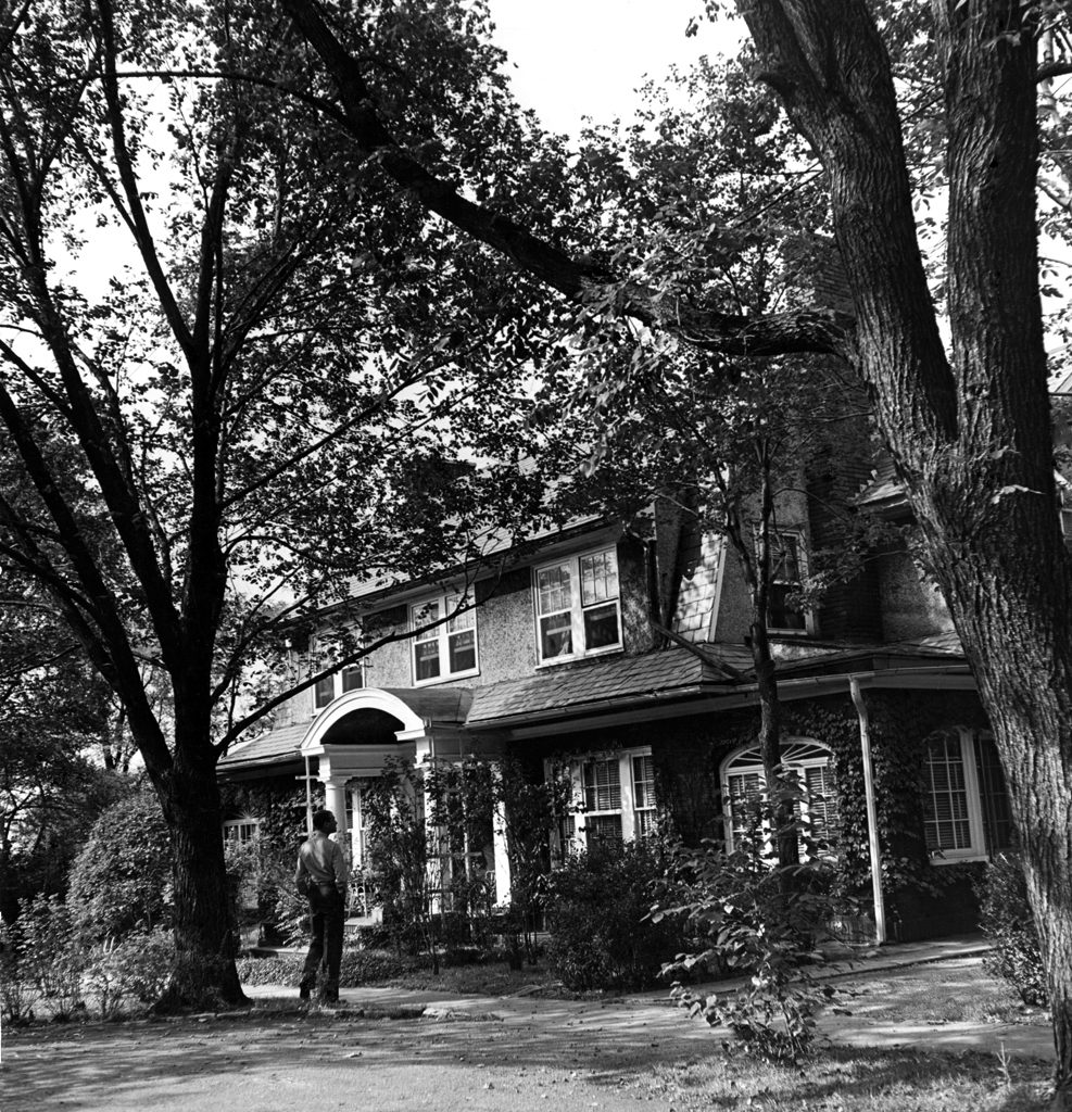The house where Jimmy Stewart grew up in Indiana, Pa., about 50 miles from Pittsburgh, seen in 1945.