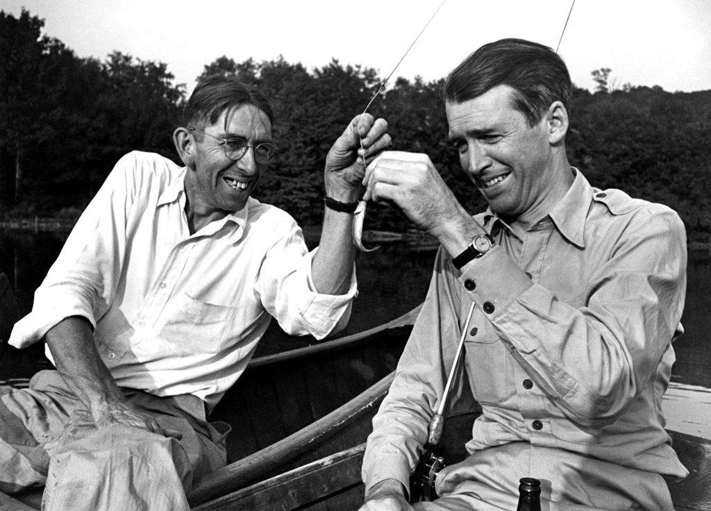 Jimmy Stewart and friend, Indiana, Pa., 1945.