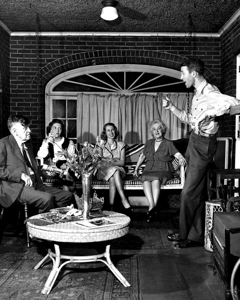Jimmy Stewart and family, 1945