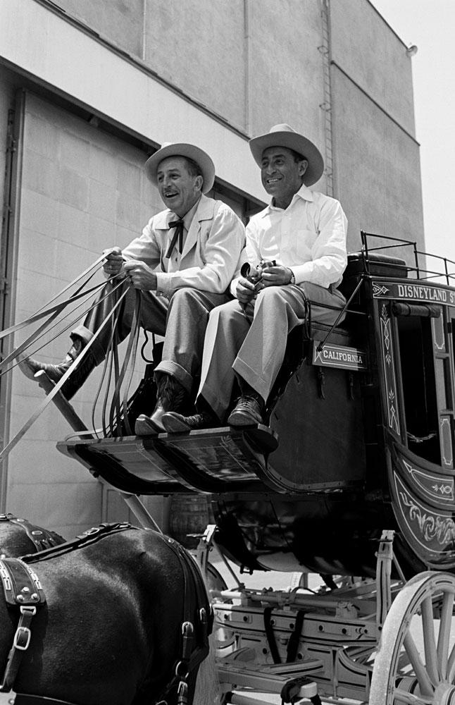 Alfred Eisenstaedt and Walt Disney, California, 1946.